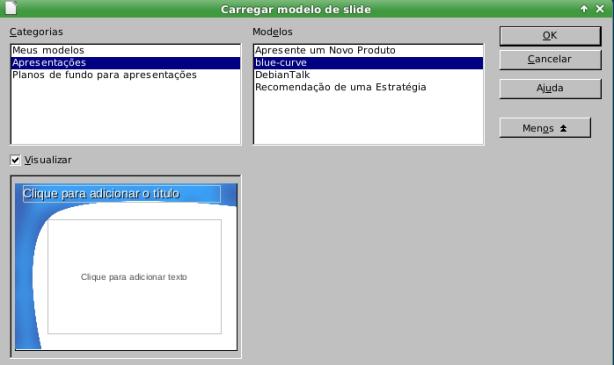 LibreOffice - carregar modelo