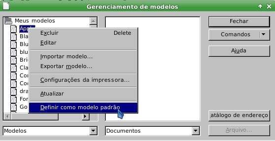LibreOffice - modelo padrão