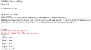 Tela do teste de funcionamento do i3geo