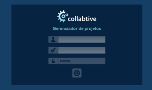 Tela inicial do gerenciador de projetos Collabtive
