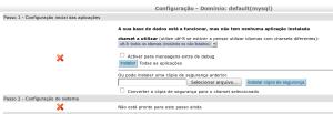 Tela de configuração de dominio do Egroupware