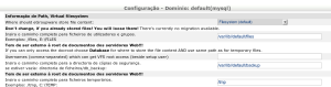 Tela de configuração de domínio do Egroupware - parte 2