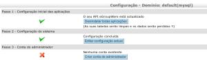 Tela configurar dominios Egroupware - passo 2 final