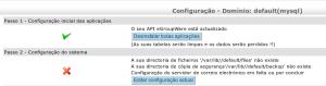 Tela de configuração de dominio do Egroupware, passo 2
