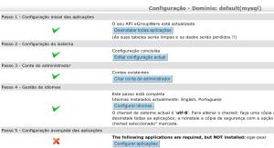 Tela instalação Egroupware - passo 4 final
