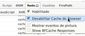 Desabilitar o cache no FirePHP