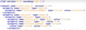 Xfce arquivo de configuração